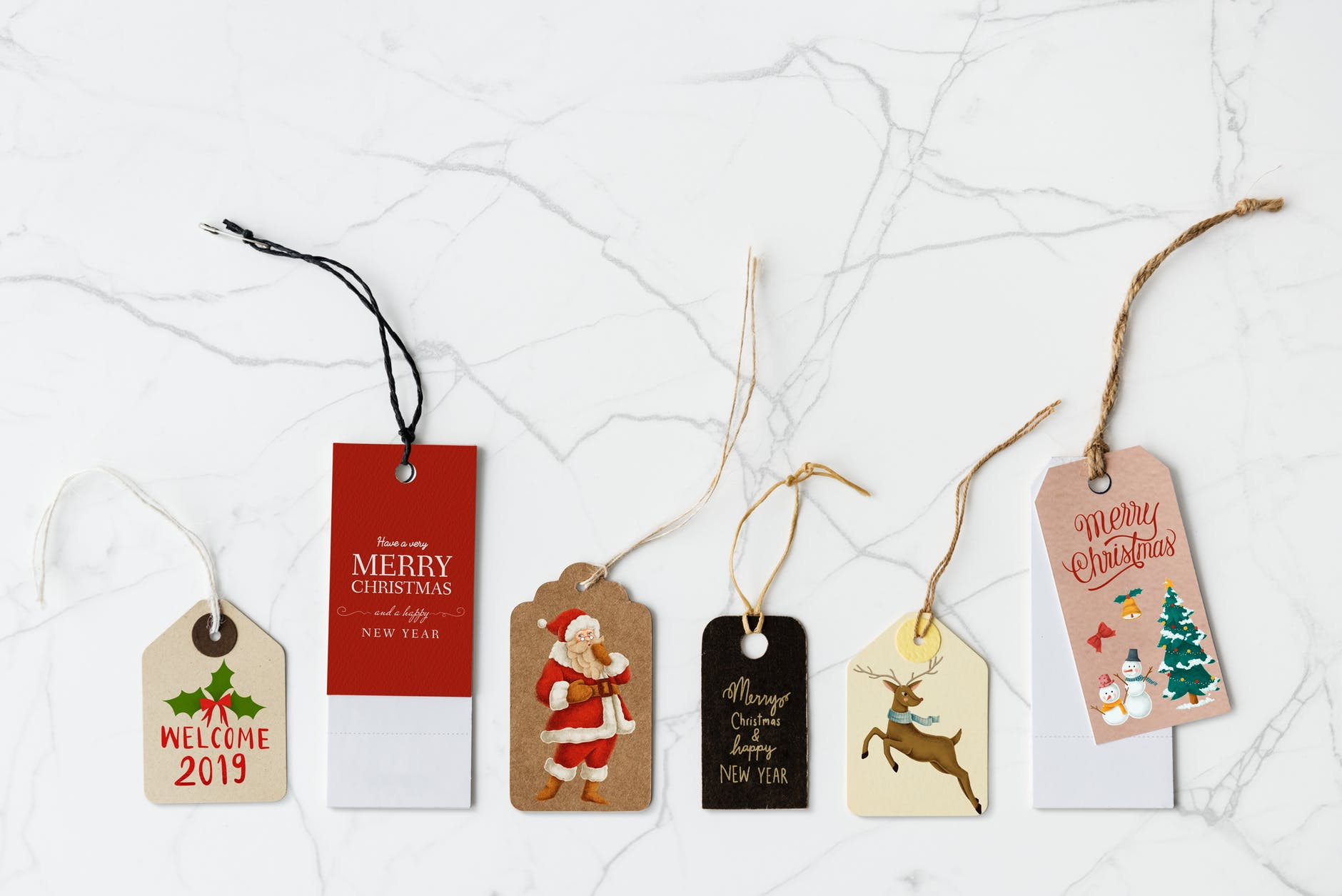 assorted clothing tags