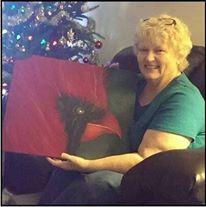 Paula with Cardinal