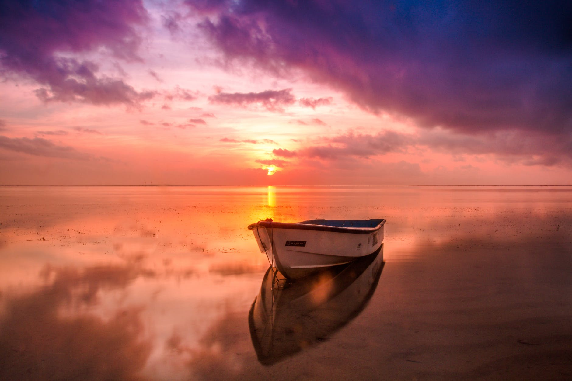 sea dawn nature sky